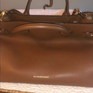 Authentic Burberry Medium Banner Handbag